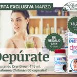 Oferta Marzo: Por la compra de un  Drengreen 475 ml, un Chitosán 60 cápsulas Phytogreen de regalo!