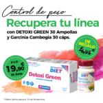 Oferta Noviembre: Por la compra de un Detoxigreen 30 ampollas Phytogreen , una  Garcinia cambogia 30 cápsulas Phytogreen de regalo! Cuida tu figura!