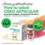 Oferta Diciembre: Por la compra de un  Colágeno hidrolizado 20 sobres, un Magnesio con vitamina B6 90 comprimidos de REGALO! Fortalece tus huesos!