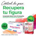 Oferta Febrero: Por la compra de un Detoxigreen 30 ampollas Phytogreen , un  Saciapetit 30 cápsulas de REGALO! Cuida tu figura!