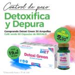 Oferta Julio: Por la compra de un Detoxigreen 30 ampollas, un Café verde 60 cápsulas de REGALO!