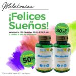 Oferta Agosto: Por la compra de una  Melatonina 120 cápsulas,  2ª unidad al 50% de descuento.