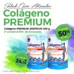 Oferta Septiembre: Por la compra de Colágeno Premium Zentrum de 360g, la 2ª  unidad al 50% de descuento. Las dos unidades por solo 24'15€.